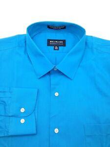 $93 Bill Blass Men Regular-Fit Blue Long-Sleeve Button Dress Shirt 15-15.5 32/33