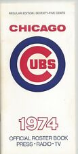 1974 CHICAGO CUBS MLB MEDIA GUIDE VINTAGE FREE SHIPPING