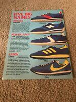 Vintage 1977 NIKE ELITE Running Shoes Catalog Print Ad ADIDAS TRX NEW BALANCE