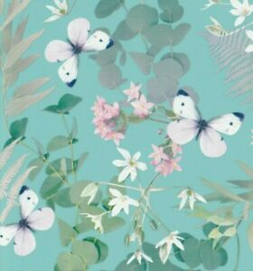 Birthday Wrapping Paper Gift Wrap Butterfly Flowers x 2 - 70x50cm Good Quality