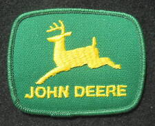 "JOHN DEERE EMBROIDERED SEW ON PATCH FARM EQUIPMENT TRACTOR GREEN 3"" x 2 1/2"""