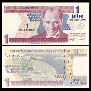 Turkey 1 Lira, 2005, P-216, UNC