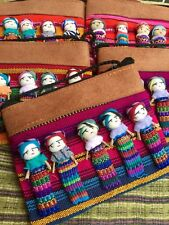 Worry Doll Drawstring Purse-Bag Guatemalan Worry People - Trouble Dolls Handmade