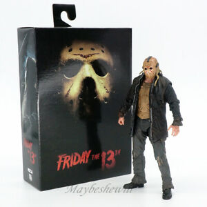 """NECA Horror Friday the 13TH Jason Voorhees 7"""" Action Figure Model Toy Set Gift"""