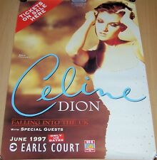CELINE DION JUNE 1997 EARLS COURT LONDON 'TICKETS ON SALE HERE' CONCERTS POSTER