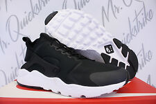 NIKE WOMENS AIR HUARACHE RUN ULTRA SZ 7 BLACK WHITE 819151 008