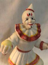 "Flambro Clown Neat Make-up Series Circus World Museum 8"" Ceramic Figure 1985"