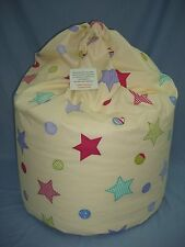 """Large Beanbag~ """"Spangles Cream"""" ~ Filled And With Inner Liner ~ FREE P&P (D3)"""