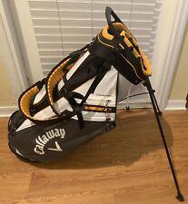 callaway fairway 14 stand bag white yellow black