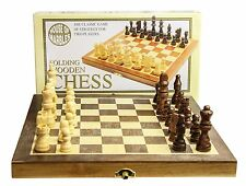 Standard Wooden Fold Up Chess Set Traditional Wood Wooden Game Family