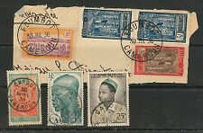 CAMEROON - POSTAL HISTORY: Small lot of used stamps with nice POSTMARKS #01