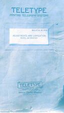 Teletype Printing Telegraph Systems Bulletin #217B  Model 28 Printer 200+ Pages!