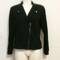 Chaqueta negra deportiva - talla M con detalles de lentejuelas