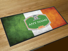 Personalizado Irlandés Bandera verde etiqueta de cerveza Toalla de Bar bares