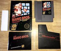 SUPER MARIO Bros. Early NES Hang-Tab BLACK BOX 5-Screw Cart Nintendo 1985 NICE!