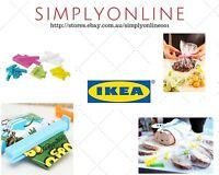 30 x IKEA Bevara Food Bag Plastic Storage Sealing Clips Locks  *Mix Bag*