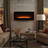 """Clevr 39"""" Wall Mount Adjustable Electric Fireplace Heater w/ Backlight & Remote"""