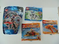 LEGO LEGENDS OF CHIMA CHI WORRIZ + 3 x Polybags FRAX WINZAR New and RARE Bundle