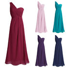 Womens Bridesmaid Long Evening One Shoulder Prom Ball Gown Cocktail Formal Dress