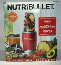 NutriBullet NBR-1201R 8-Piece Superfood Nutrition Blender Extractor Set - Red