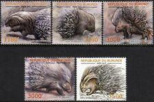 South African Cape PORCUPINE / Wild Animal Stamp Set (2012 Burundi)