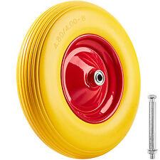 Solid rubber wheelbarrow wheel puncter proof tyre incl. axle hand truck 150 kg