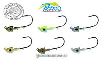 Picasso Swimbait Jig Head Smart Mouth Plus A-Rig 3/8oz 4/0 Mustad 3pk - Pick