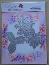 CRAFT BUDDY Forever Flowers PRETTY POINSETTIA DIE SET 3 Dies HOLLY FD06