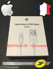 Câble Chargeur Lightning 2M D' Origine Apple MD819ZMA - iPhone 5/5S/6/6S/6+