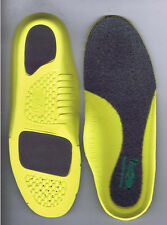 Vasque Womens V.F.S. Variable Fit System Comfort Insoles Size 7 Yellow NEW