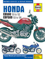 Haynes Manual 3753 Honda CB500 CB500S 1993-02 CBF500 CBF500A 2003-08 NEW