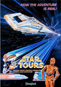 "Vintage Disney 11"" x 17"" (  Star Tours ) Collector's Poster Print - B2G1F"