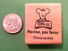 """""""Please Review"""" -- Spanish Bilingual Teacher's Stamp"""
