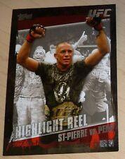 Georges St-Pierre 2010 Topps UFC Card #183 vs BJ Penn Highlight Reel 94 GSP 58