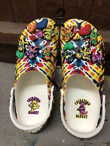 🔥🔥Chinatown Grateful Dead Crocs 12!! RARE!!! 🔥🔥🔥🔥