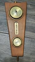 """Vintage Wall Weather Station Temperature Humidity Barometer West Germany 12"""""""