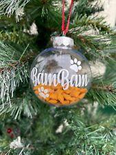 Personalised Pet BAUBLES Optional Treats Dog Cat Kitten Puppy Christmas Xmas