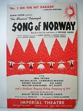 SONG OF NORWAY Herald IRRA PETINA / HELENA BLISS / LAWRENCE BROOKS NYC 1944