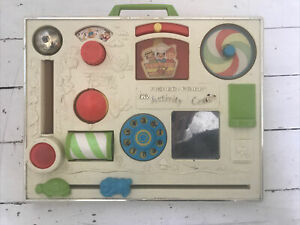 Vintage Fisher Price Activity Centre Toy with box and clamp for cot