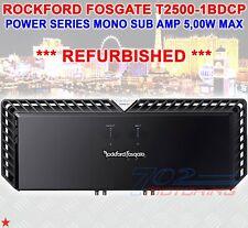 *Refubished* Rockford Fosgate T2500-1Bdcp 5000 W Max Class Bd Power Mono Sub Amp