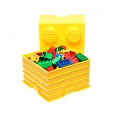 LEGO Storage Brick 4 Giallo Blocco 100% Nuovo Ufficiale Bambini GRATIS P + P