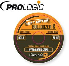(0,50€/1m) Prologic Bulldozer K Braided Sinking Shock Leader 50m 50lbs Schnur