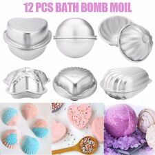 12x 6 Shape Aluminum Bath Bomb Molds Cake Pan Baking Mold Diy Crafting Us Stock
