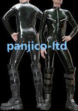 Latex Rubber Gummi Black Full-body Tights Catsuit Handsome Bodysuit Size XS-XXL