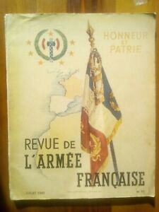 REVUE DE L'ARMEE FRANCAISE n° 10 HONNEUR ET PATRIE 1942 Occupation PETAIN