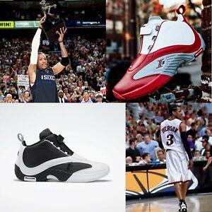 Reebok The Answer IV 4 Allen Iverson I3 Red Black Men Basketball Shoes Pick 1