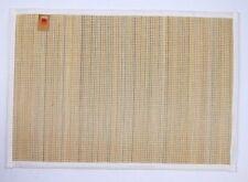 "(6) Lintex Bamboo & Cotton Placemats ~ Natural & White ~ 13"" x 19"" **NEW**"