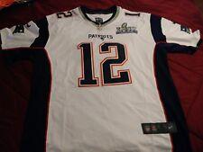 8a1b36eff4d8c Anuncio nuevoNew England Patriots  12 Tom Brady Cosido Súper Tazón Para Hombre  Jersey Xl