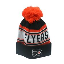 Philadelphia Flyers Nhl Reebok Youth Boys (8-20) Cuffed Pom Knit Winter Beanie