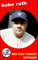Babe Ruth Poster 11X17 - Yankees Bambino Bronx Bombers -  Buy Any 2 Get 1 Free